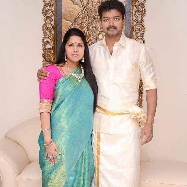 Vijay's wife Sangeeta Sornalingam