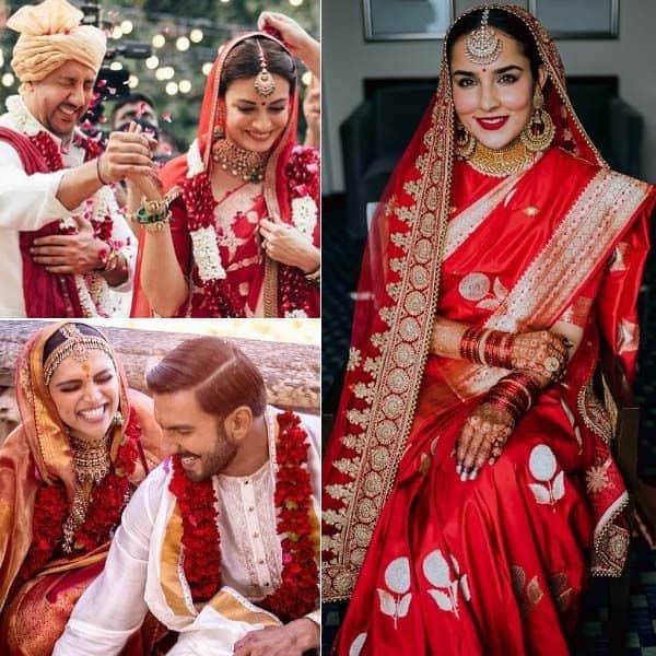 इन 9 हसीनाओं ने शादी पर पहनी साड़ी