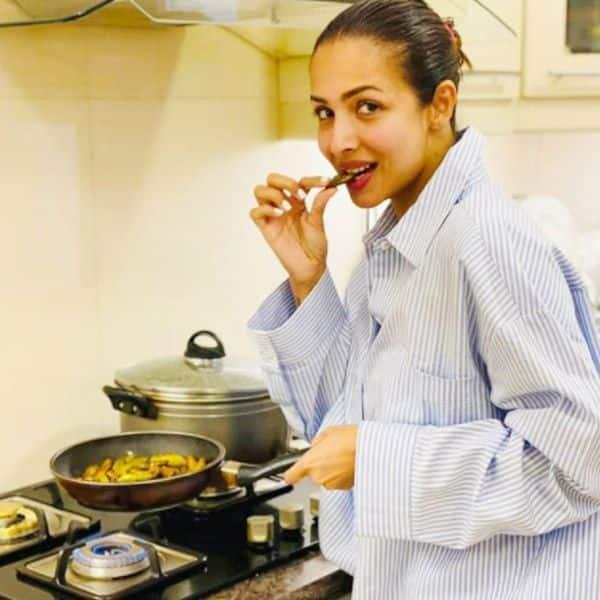 सिंपल और क्लासी है मलाइका अरोड़ा की किचन