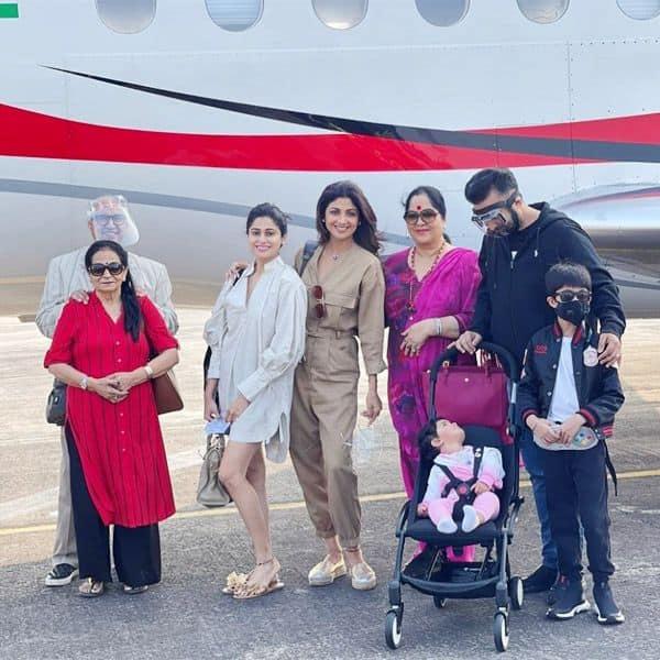 Raj Kundra, Shilpa Shetty and family!