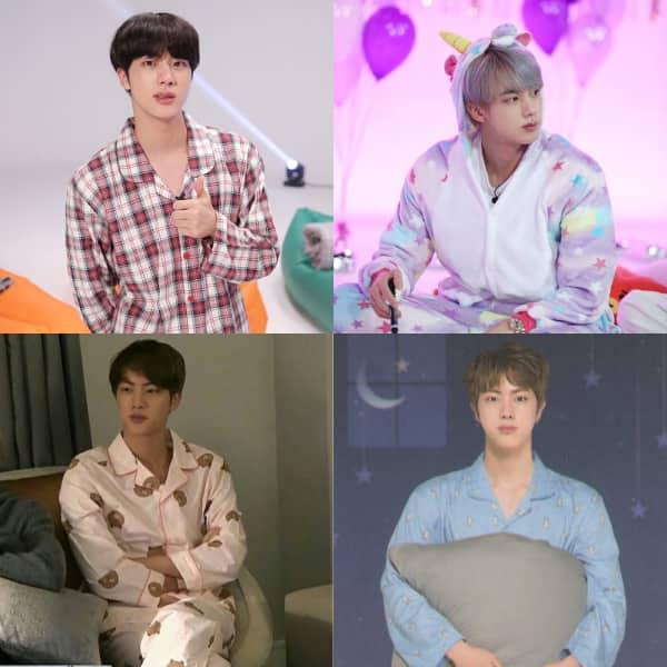 BTS' Jin aka Kim Seokjin in pyjamas