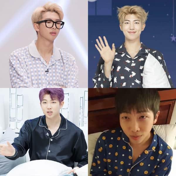 BTS' RM aka Kim Namjoon in pyjamas