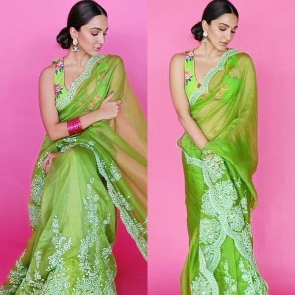 Shershaah actress Kiara Advani's demure look in a green organza saree leaves Janhvi Kapoor, Bhumi Pednekar raving about her beauty