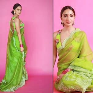 48 हजार की साड़ी पहनकर Kiara Advani ने दिखाया जलवा, फैंस बोले, 'ओए होए हरी हरी...'