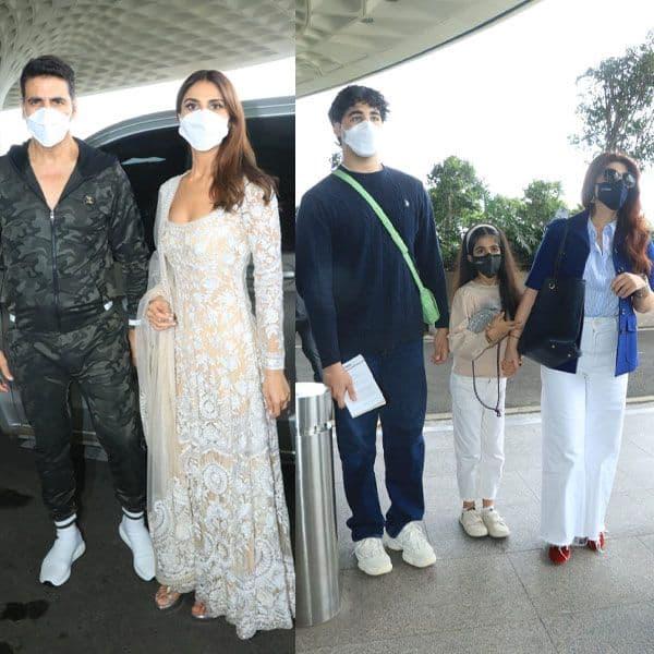 Akshay Kumar and Bell Bottom team snapped at the Mumbai airport