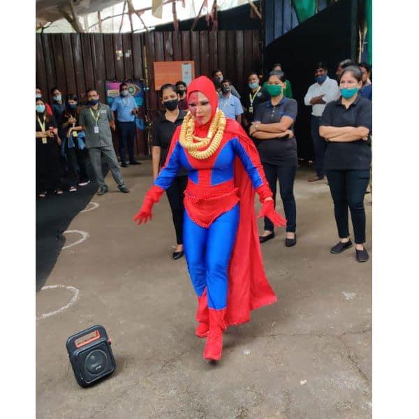 Rakhi Sawant as Spider Man