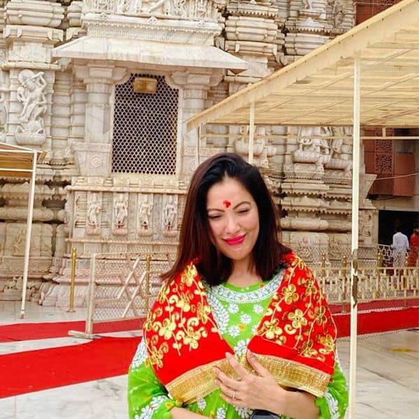 Munmun Dutta visited the Ambaji Temple