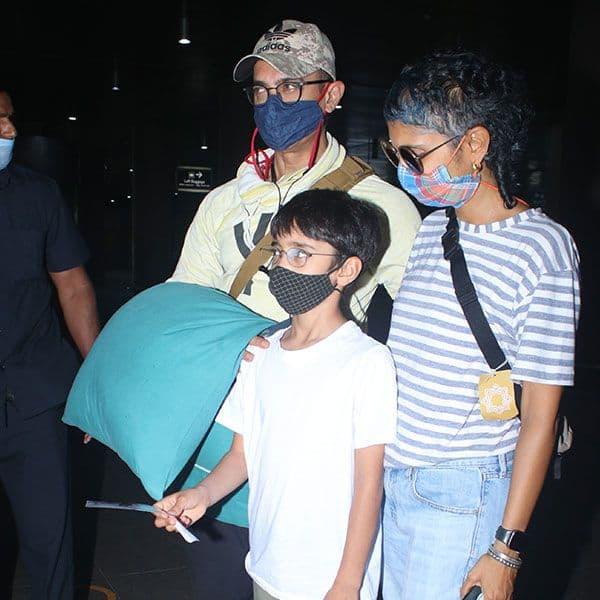 बेटे के साथ दिखें आमिर खान और किरण राव (Kiran Rao)
