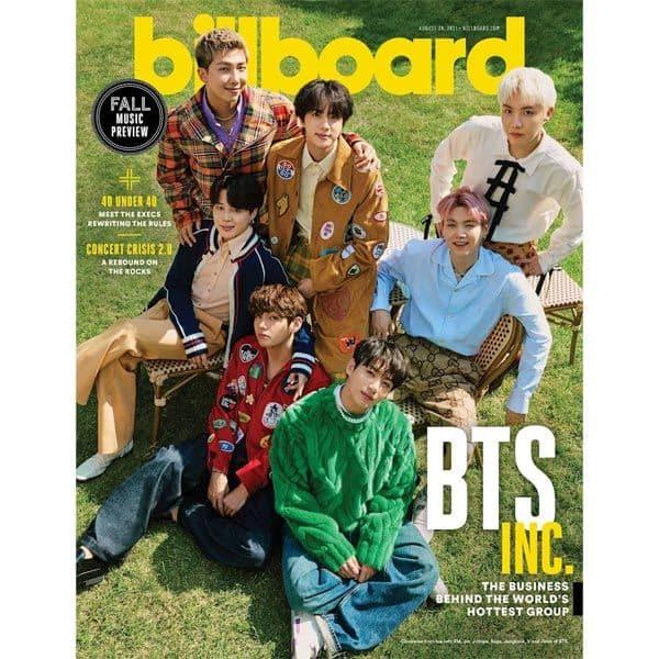 BTS on Billboard magazine cover