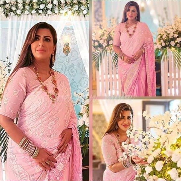 बला की खूबसूरत लग रही है प्रीता (Shraddha Arya) की सास