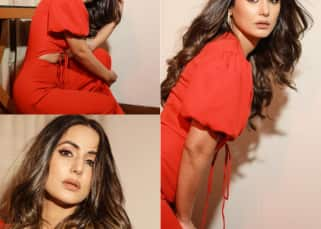 Hina Khan flaunts her mid-riff in a RED HOT jumpsuit and sets the internet on FIRE! – view pics