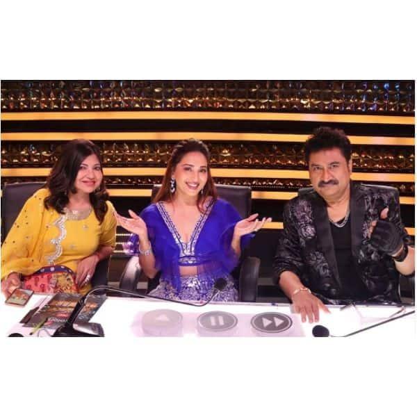 कुमार सानू (Kumar Sanu) और अलका यागनिक (Alka Yagnik) संग मस्ती करती दिखीं माधुरी दीक्षित (Madhuri Dixit)