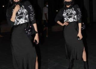Salaar: Shruti Haasan ups her oomph game as she arrives in Hyderabad in a black high-slit skirt and a printed top for the shooting of Prabhas starrer