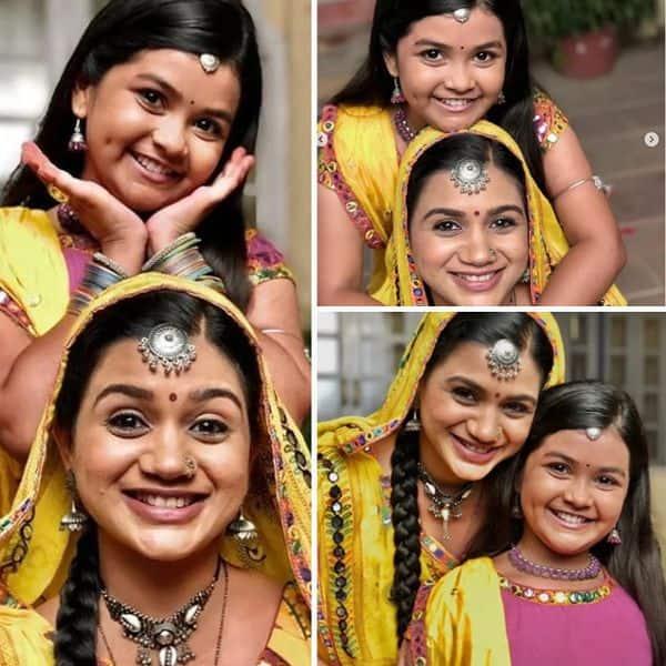 अपनी बा (Riddhi Shukla) के साथ पोज देती दिखी छोटी आनंदी (Shreya patel)