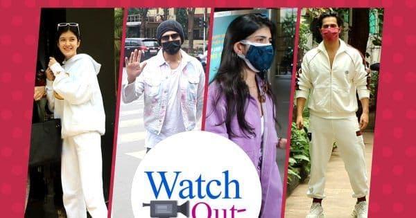 Celebrities In Town  Kartik Aaryan  Sanjana Sanghi  Varun Dhawan  Shanaya Kapoor & Maheep Kapoor
