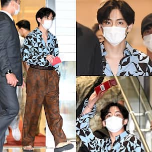 BTS leave for NYC and ARMY cannot keep calm as Kim Taehyung turns airport into his runway again; trend 'Fashion Icon V' – view tweets