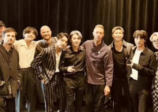 My Universe: BTS and Coldplay pose together ahead of their song's release; Bangtan Boys come up with a special gift for the rock band