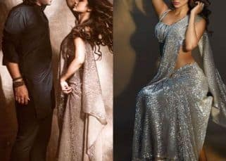 Mouni Roy stuns in a shimmery metallic saree for her music video and you will envy Jubin Nautiyal for the gorgeous view — see pics