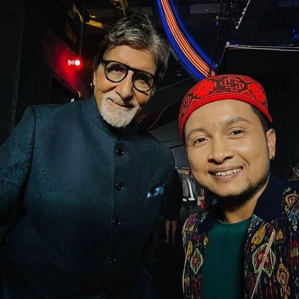 Pawandeep Rajan and Amitabh Bachchan