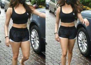Janhvi Kapoor looks PHAT as she wears a black sports bra and shorts – see pics