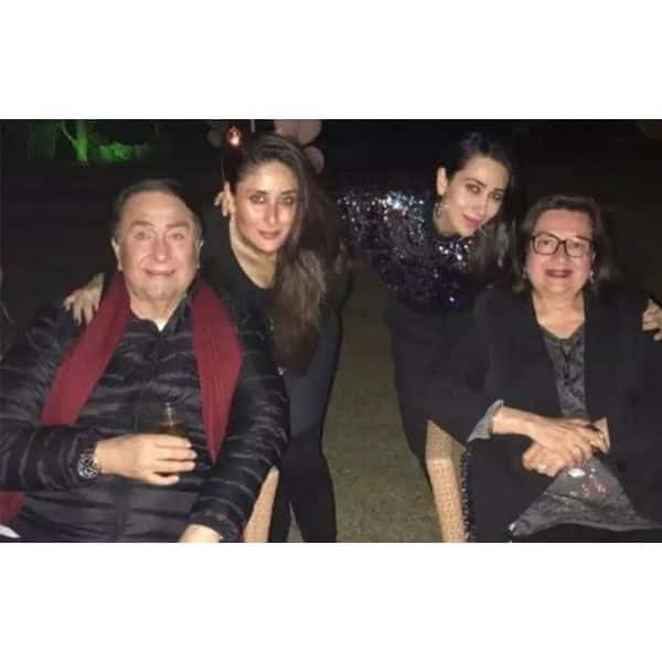 Kareena Kapoor, Karisma Kapoor and Babita withfamily