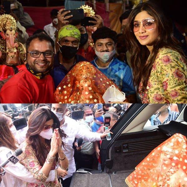 Shilpa Shetty ने किया गणपति बप्पा का स्वागत