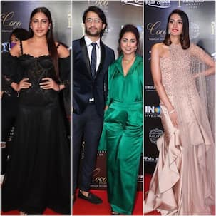 Iconic Gold Awards 2021: Surbhi Chandna, Shaheer Sheikh, Hina Khan, Erica Fernandes dazzle at the red carpet – view pics