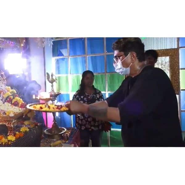 राजन शाही (Rajan Shahi) ने की पूजा