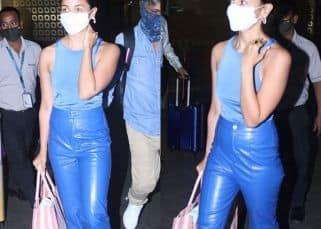 Alia Bhatt chooses a body hugging top and leather pants for her airport look; Netizens say, 'She's trying to copy Deepika Padukone' – see pics