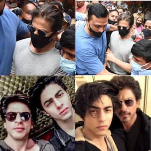 Shah Rukh Khan makes his first public appearance since Aryan Khan's arrest; reaches Arthur Road Jail to meet his son [VIDEO]
