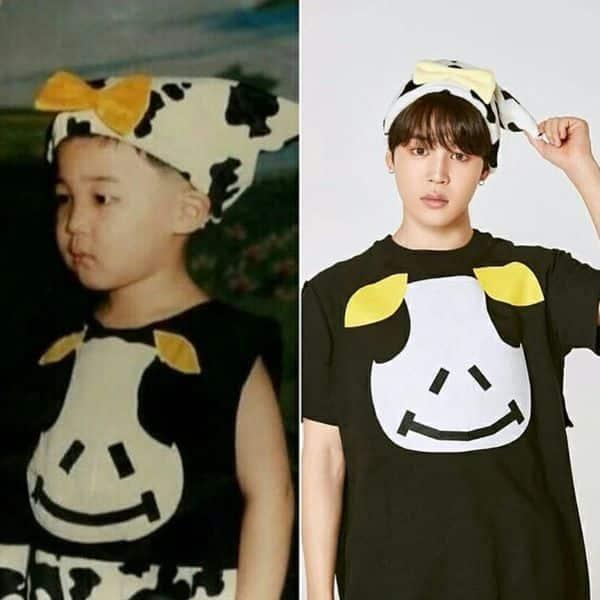 Recreated his childhood look