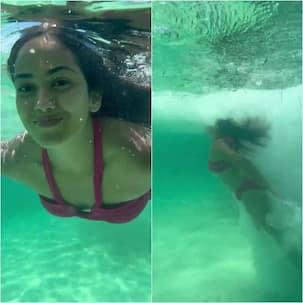 Bikini-clad Mira Rajput-Kapoor takes the plunge into the sea – watch video