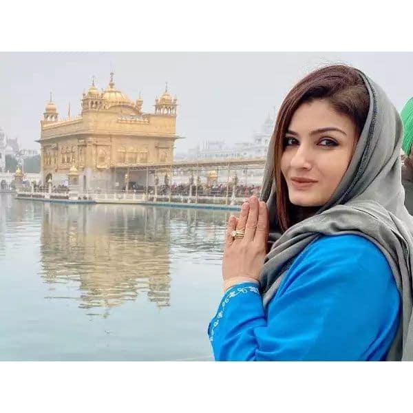 Raveena Tandon - Temple case
