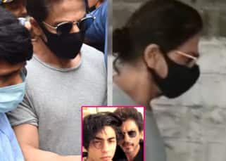 Sleepless and worried father Shah Rukh Khan rushes to jail to meet Aryan Khan as soon as meeting rules change for inmates - watch