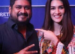Adipursh की 'जानकी' Kriti Sanon के साथ ओम राउत ने मिलकर काटा केक, इस बात की जताई खुशी !!