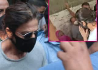 Distraught Shah Rukh Khan wins hearts as he pauses to acknowledge his fans outside Arthur Road jail - watch heartbreaking video