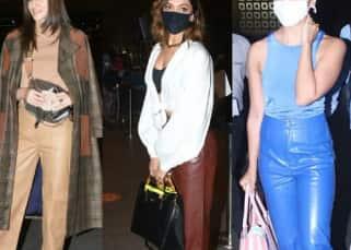 Deepika Padukone, Kriti Sanon and Alia Bhatt bring back the leather pants trend with panache; fashionistas take note!