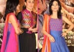 Amrita Rao looks beautiful in blue at Satyagraha event!