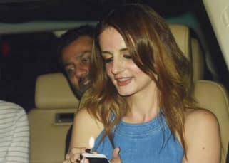 Hrithik Roshan's ex- wife Sussanne Khan couldn't keep her hands off him at a recent outing