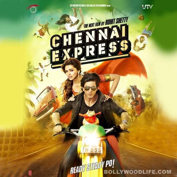 Chennai Express posters: Shahrukh Khan and Deepika Padukone sport lungis