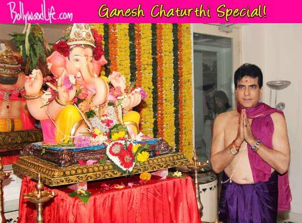 Ganesh Chaturthi 2014: Jeentendra, Ekta Kapoor and Tushar Kapoor welcome Ganpati bappa home – View pics!