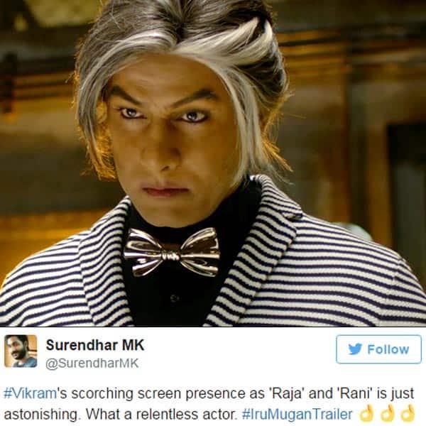 Chiyaan Vikram's still from 'Iru Mugan' trailer