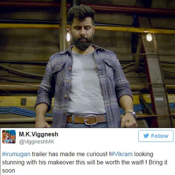Chiyaan Vikram in a still from trailer of 'Iru Mugan'