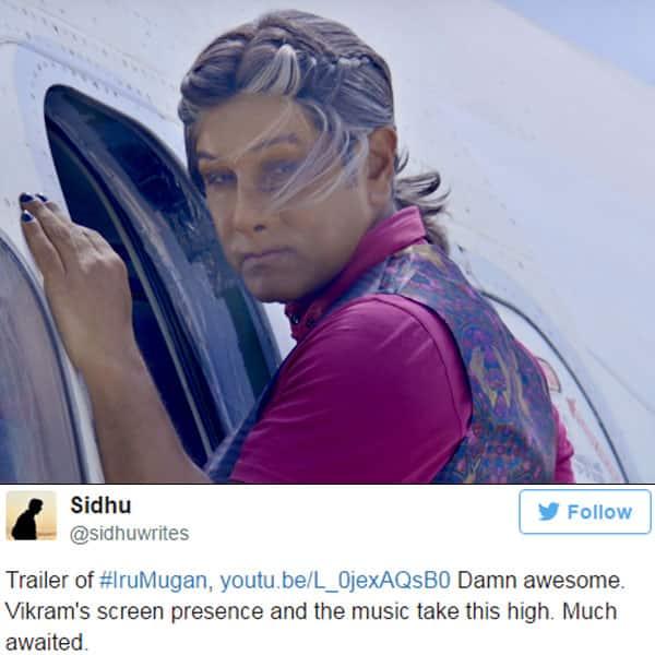 Chiyaan Vikram from trailer of 'Iru Mugan'