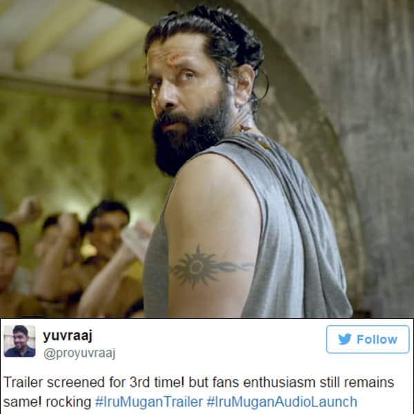 Chiyaan Vikram's character from  'Iru Mugan' movie