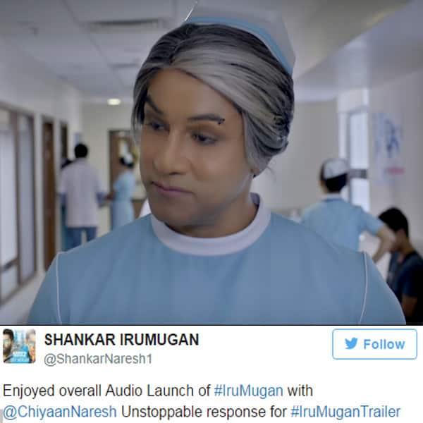 Chiyaan Vikram's role from trailer of 'Iru Mugan'