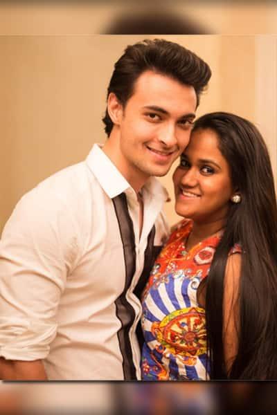 Aayush Sharma snapped with Arpita Khan