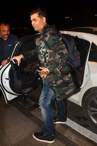 Karan Johar snapped outside Mumbai airport
