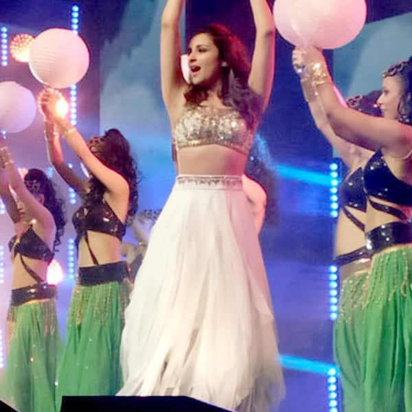 Parineeti Chopra dancing during Dream Team concert in Houston