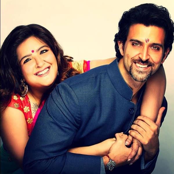 Hrithik Roshan snapped with sister Sunaina Roshan on Raksha Bandhan